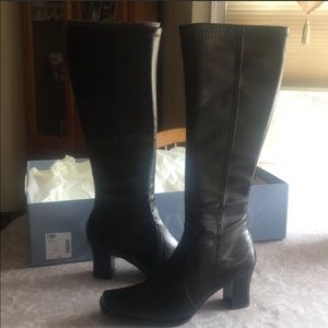 St Johns Bay Leather Boots Black 6